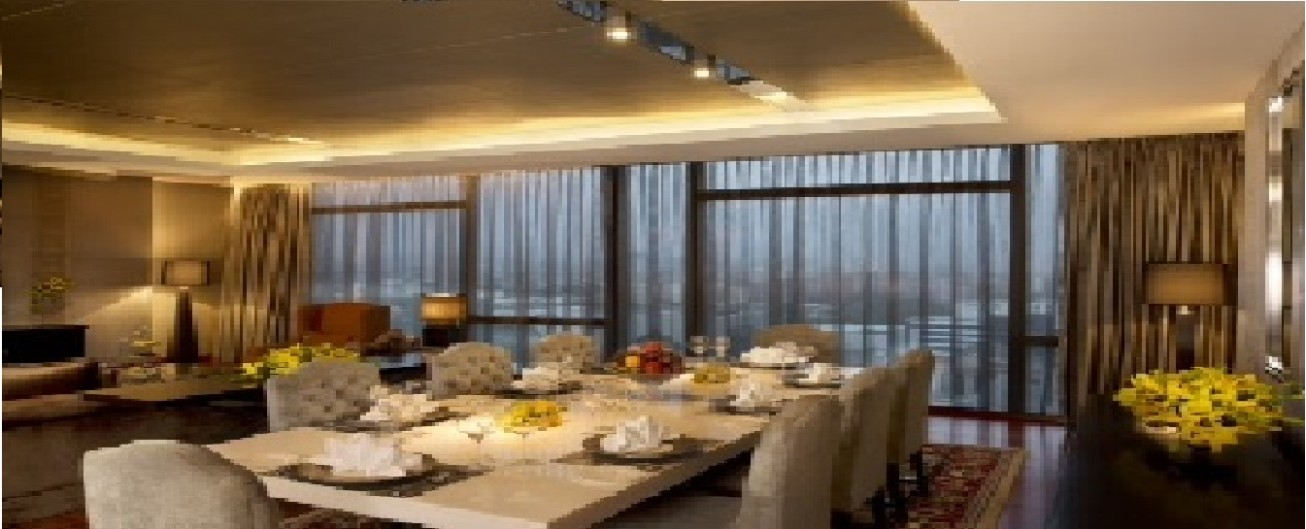 Dining space @ Nirvana Suite at Vivanta by Taj, Gurgaon