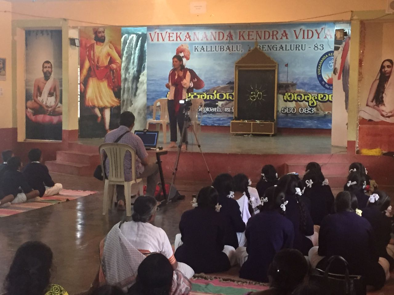 Adressing and inspiring- At Vivekananda Kendra