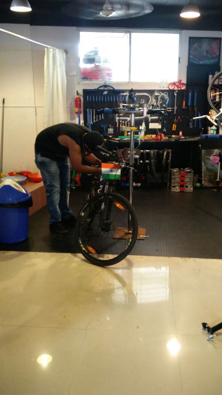 Cycle at the parlour getting a makeover- Sunita wasn't so lucky