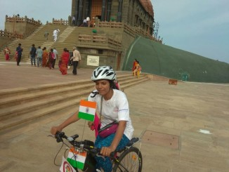 Parikrama of the Vivekananda rock memorial before flag off