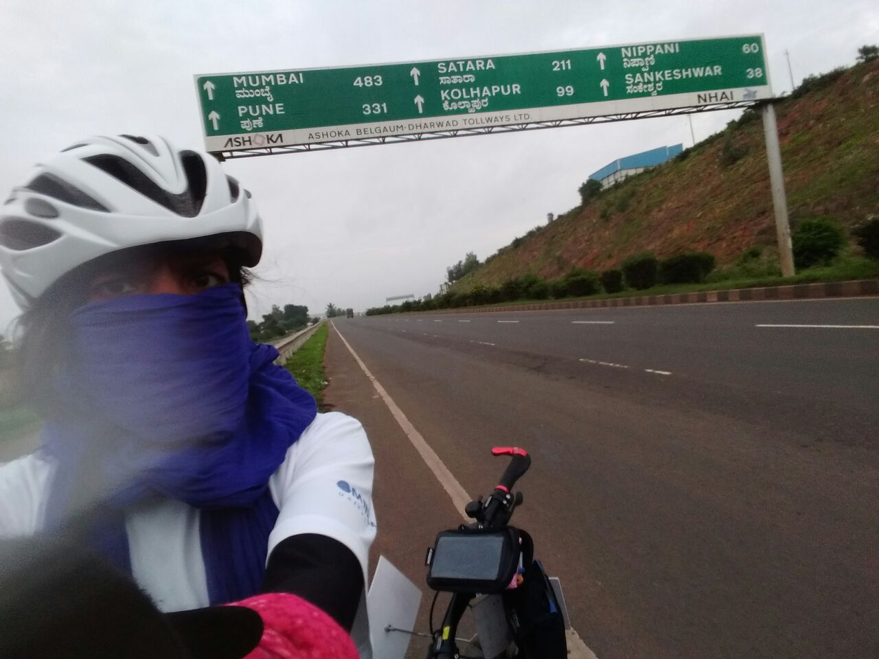 Long way to go- Kolhapur 99 kilometres