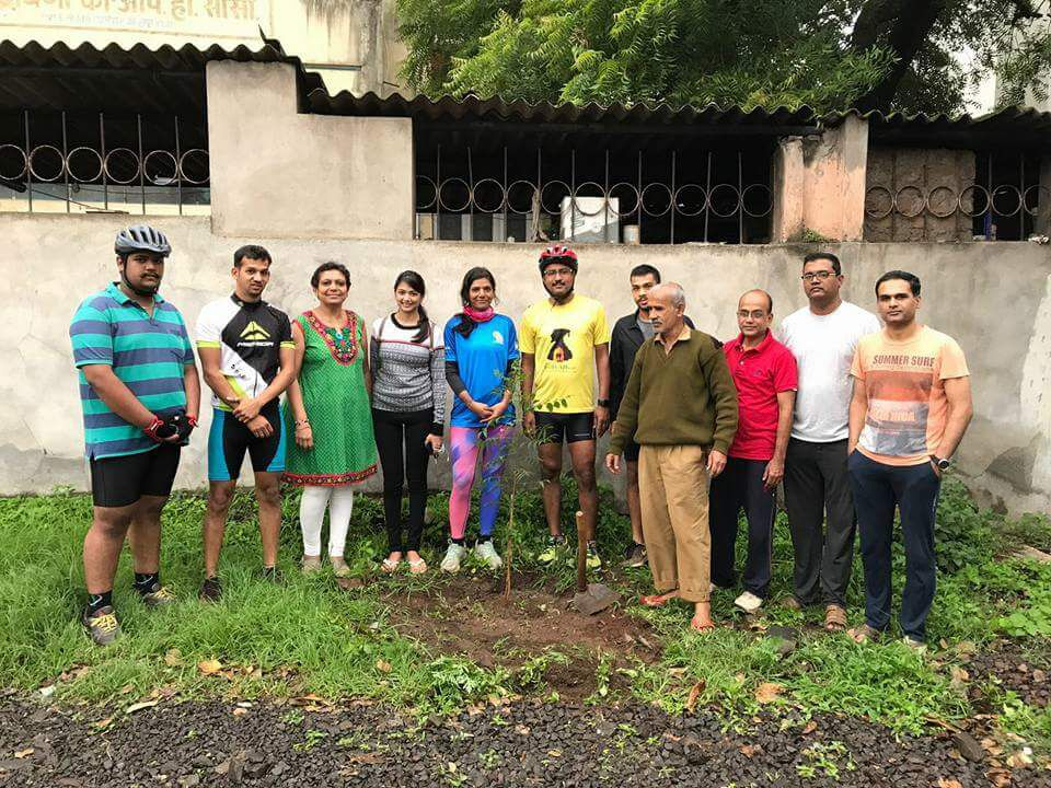Plantation at Kolhapur with Kolhapur Sports Club Cycling group