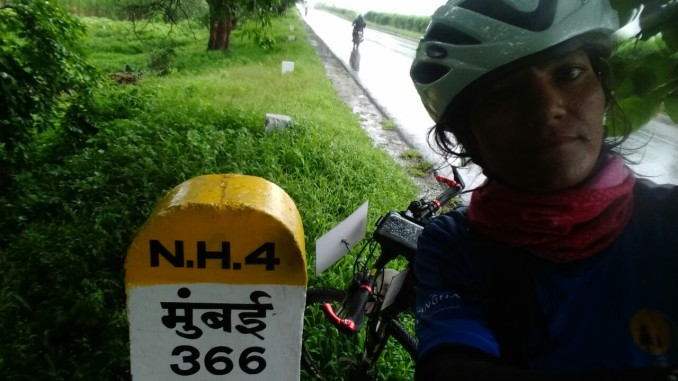 Sunita Singh Choken on her way to Satara