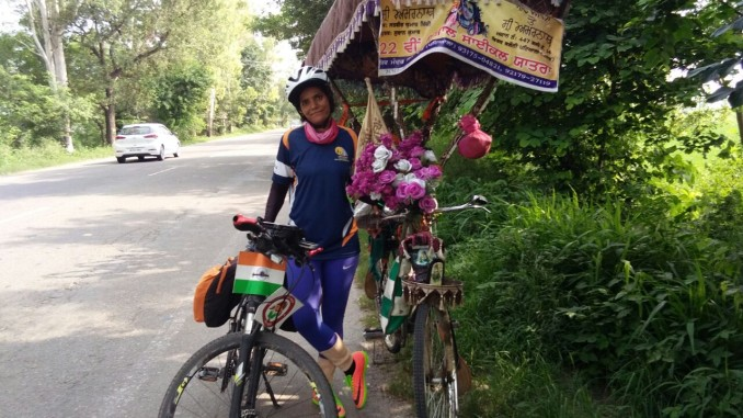 Sunita Singh Choken Solo Cycling Expedition