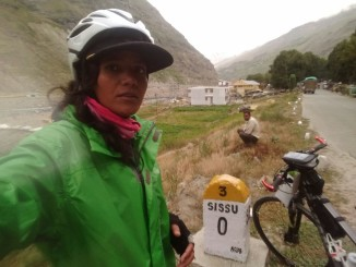 Everester Sunita Singh Choken Solo Cycling Expedition
