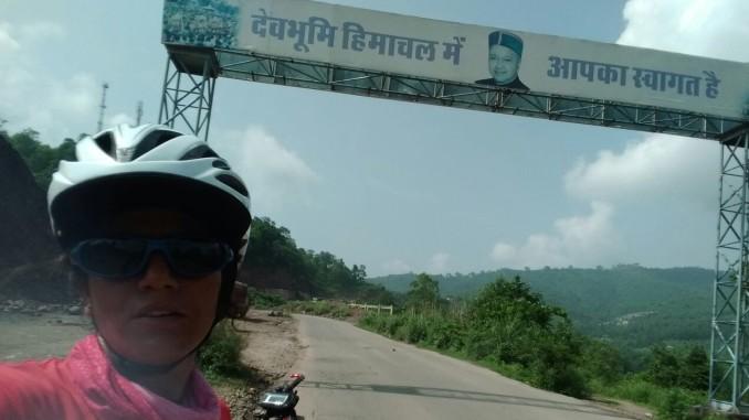 Sunita Singh Choken - entering Himachal
