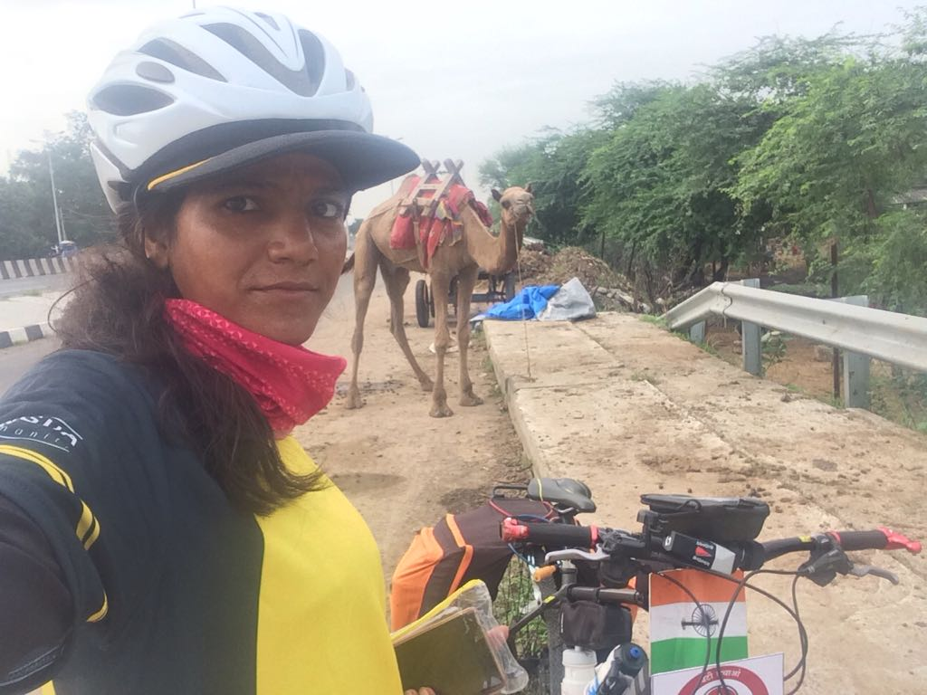 Somewhere on the way - Sunita Singh Choken Solo Cycling Expedition