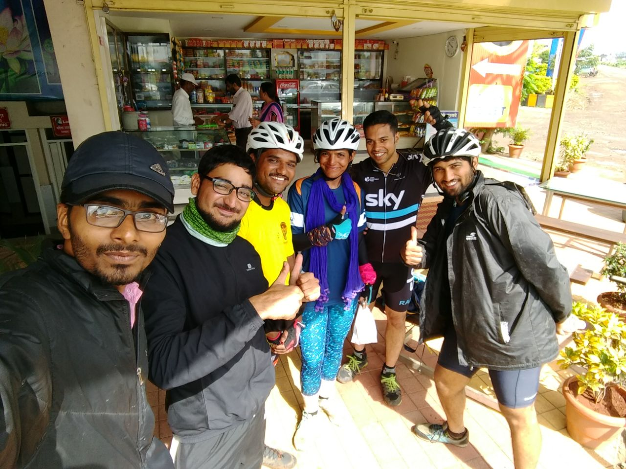 Sunday morning ride - cyclist group