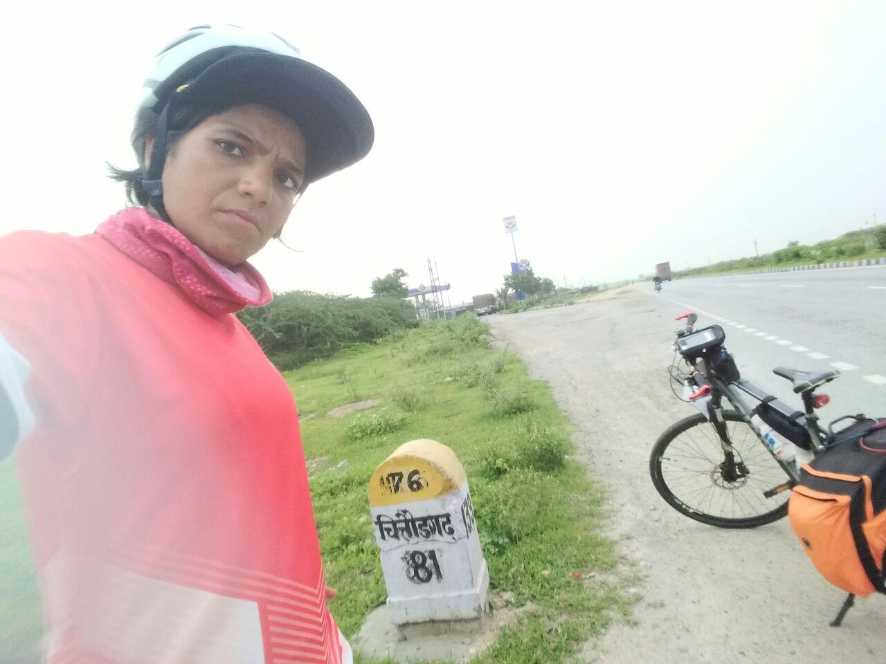 Udaipur - Chittorgarh- Bhilwara - Sunita Singh Choken Solo Cycling Expedition