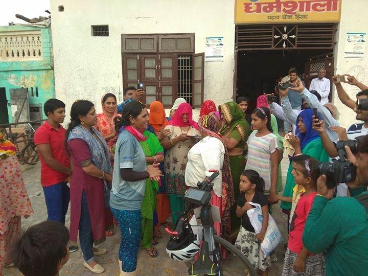 Warm welcome at Gurjar Dharamshala Everester Sunita Singh Choken