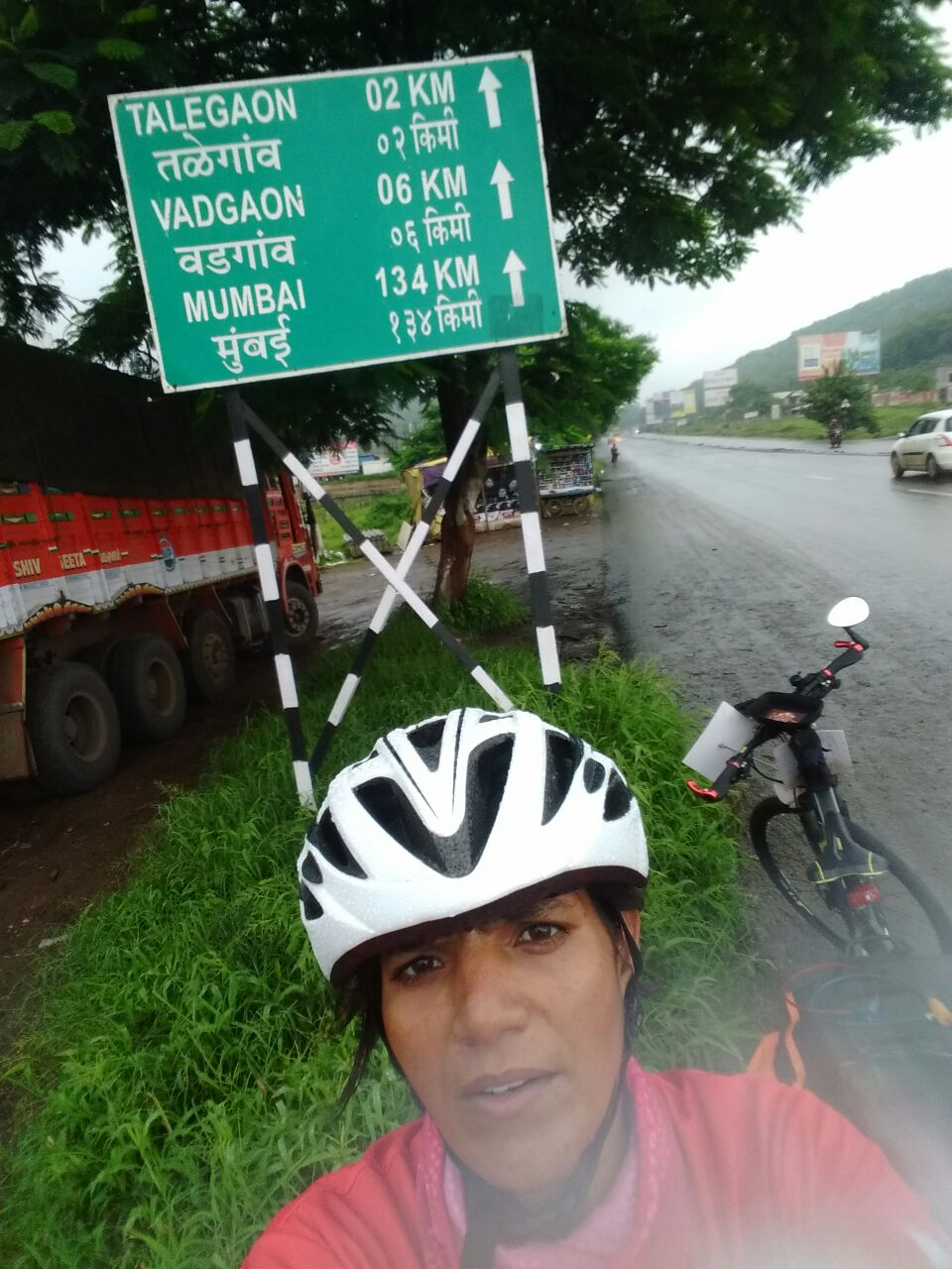 Wet and slippery Pune Mumbai Highway - Sunita Singh Choken