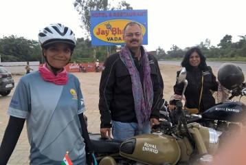 Sunita Singh Choken With Col Rajesh Adhikari